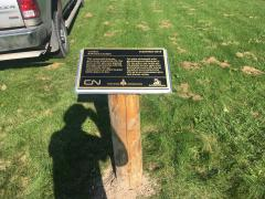 Another type of plaque installation.