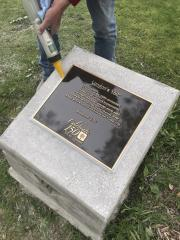 150th Anniversary plaque install