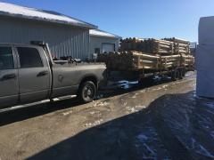 Load of cedar posts for local hardware store.