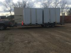 Hauling 2 10' containers