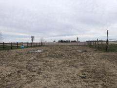 Riding area before grading