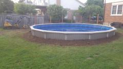 Just finished a round on ground or partial in ground pool.