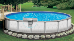 Our most popular steel sided above ground pool the generation.